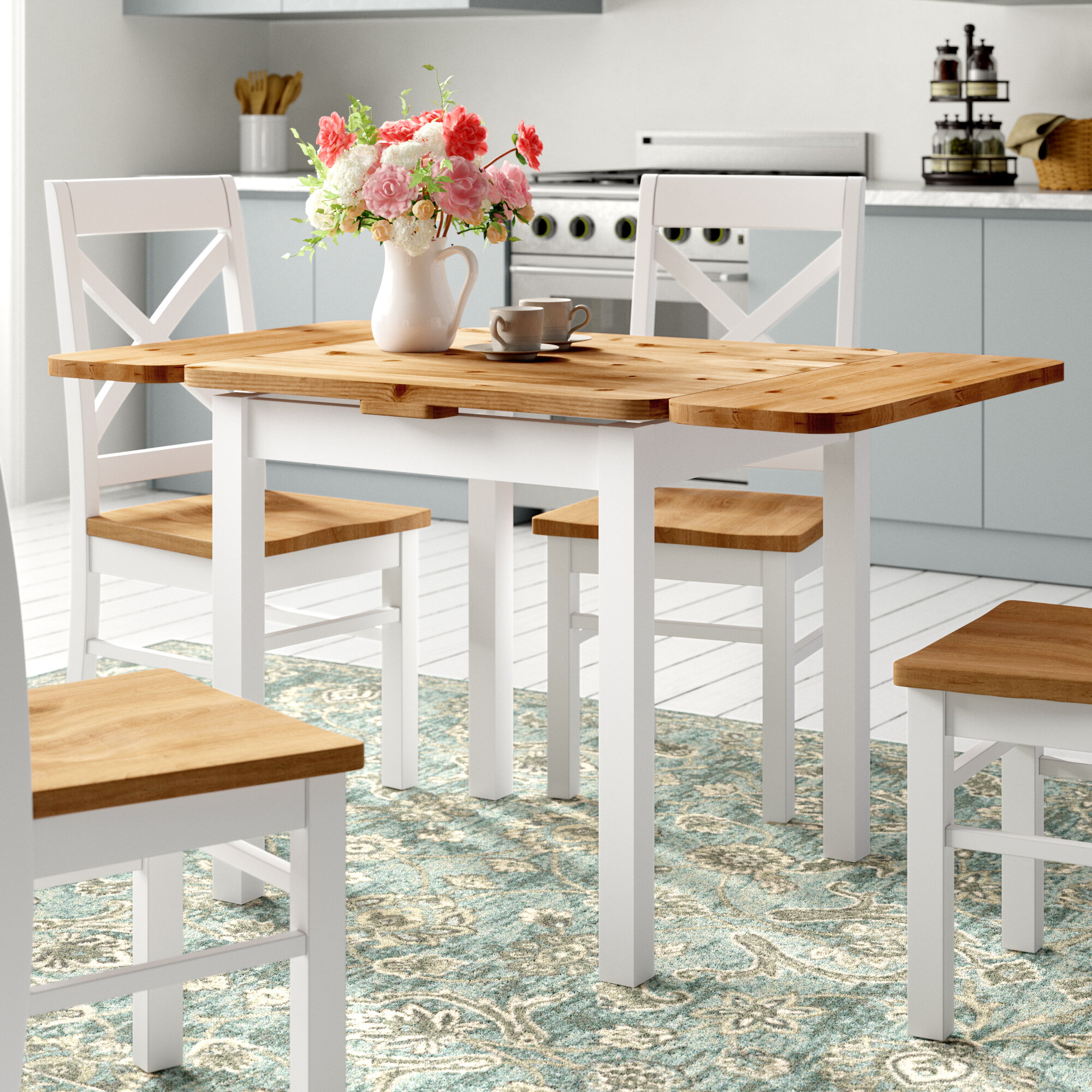 Fernleaf Southsea Extendable Pine Solid Wood Dining Table Reviews Wayfair Co Uk