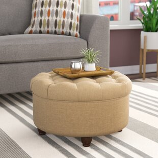 Round Ottomans & Poufs You\'ll Love | Wayfair
