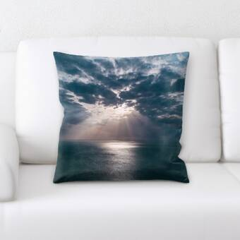 Latitude Run Weside Light Breaking Through The Clouds Throw Pillow Wayfair