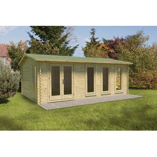 Vetter 20 X 14 Ft. Tongue & Groove Log Cabin By Sol 72 Outdoor