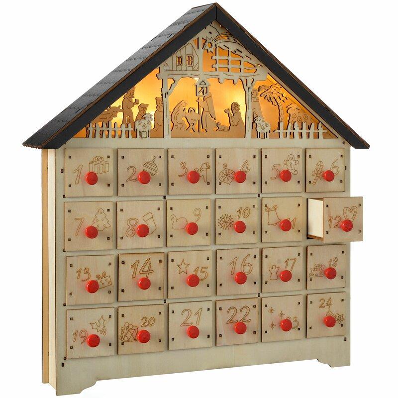 Nude wood advent calendar