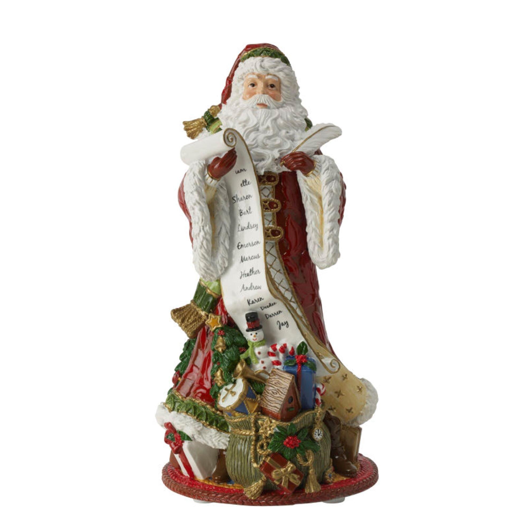 Fitz And Floyd Christmas 2021 Fitz And Floyd Holiday Home Santa Musical Resin Figurine Wayfair