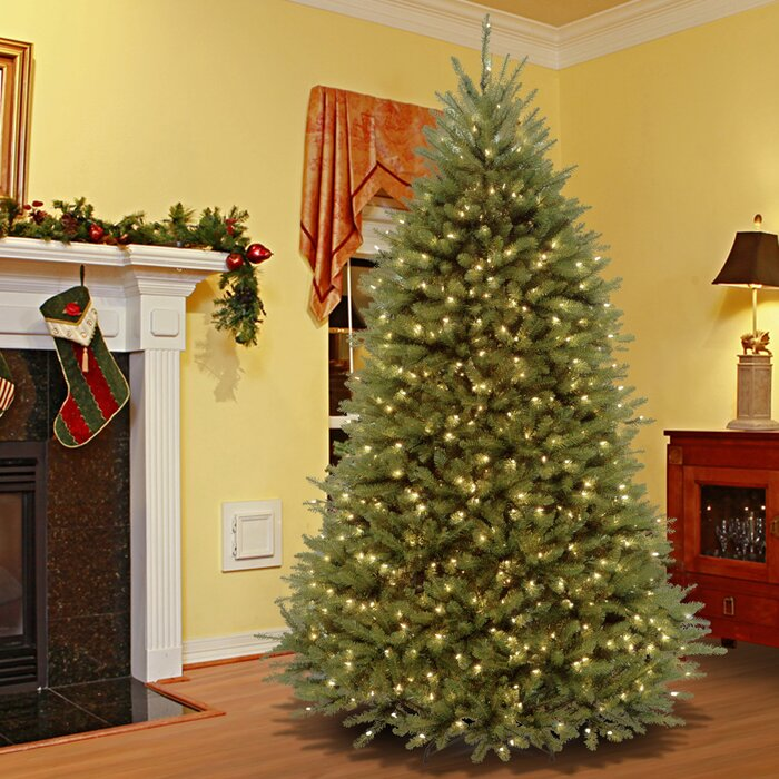 Artificial Christmas Tree With Lights.Powerconnect 9 Green Fir Artificial Christmas Tree With 900 Clear Lights