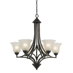 Darby Home Co Marci 6-Light Shaded Chandelier