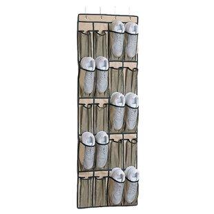 Organize It All 20-Pocket 10 Pair Overdoor Shoe Organizer