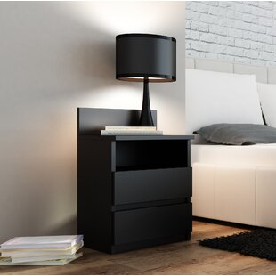 Abril 2 Drawer Bedside Table By Zipcode Design