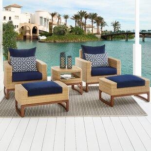 Addison 5 Piece Sunbrella Conversation Set with Cushions