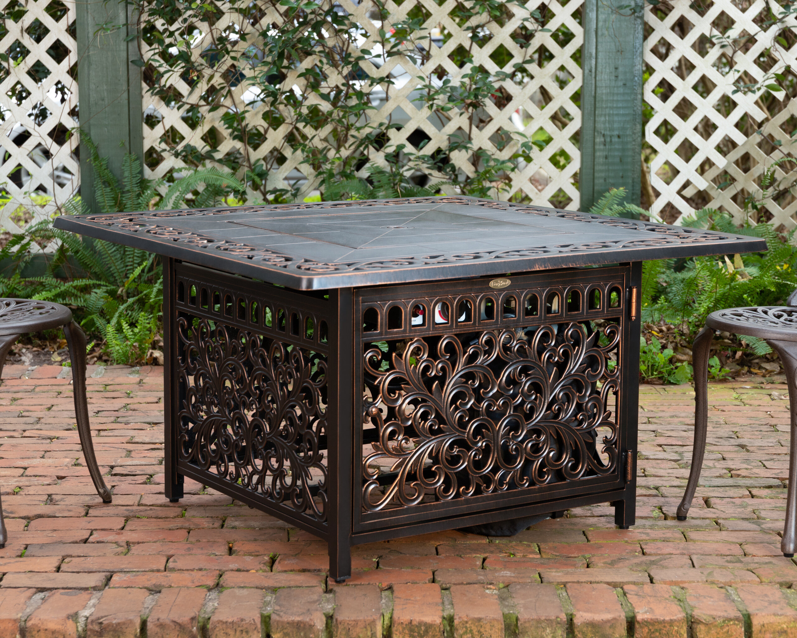 Attrayant Sedona Cast Aluminum Propane Fire Pit Table