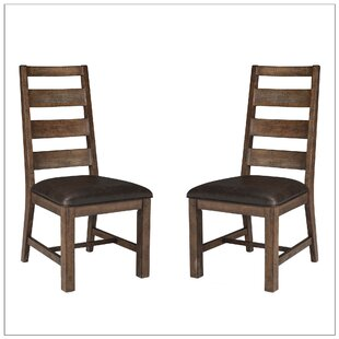 Gracie Oaks Baulch Solid Wood Dining Chair (Set of 2)