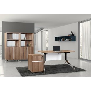 Bergerson 4 Piece Desk Office Suite by Comm Office 2019 Sale