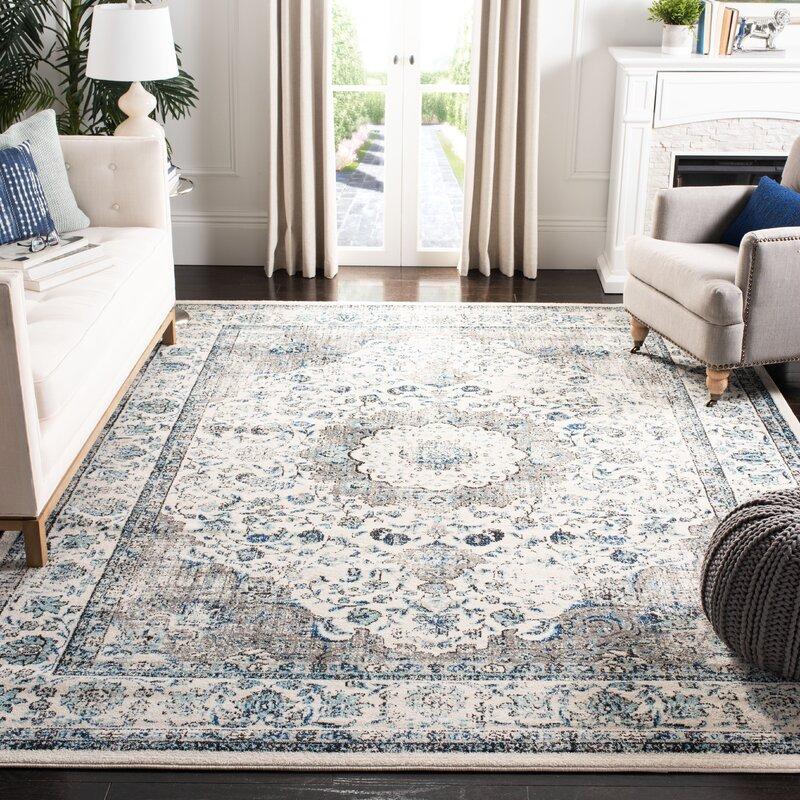 Lark Manor Aleyna Grey Ivory Area Rug Amp Reviews Wayfair Ca