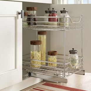 Rebrilliant 2 Tier Sliding Pull Out Drawer
