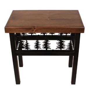 Millwood Pines Noelle Elk/Feather End Table