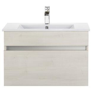 Wood Grain Ivory Floating 30 Single bathroom Vanity By Cutler Kitchen & Bath