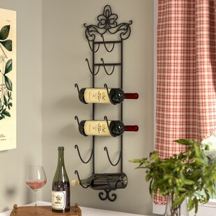 Riley 6 Bottle Wall Mounted Wine Rack