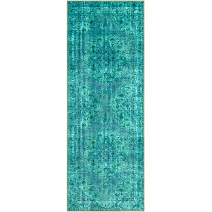 Exceptionnel Almon Emerald/Dark Green Area Rug