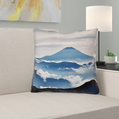 Latitude Run Hashimoto A View Of Mt Fuji Cotton Throw Pillow Latitude Run Size 20 X 20 Dailymail