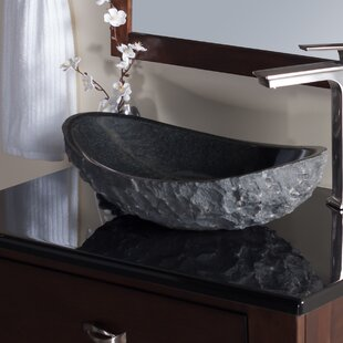 Novatto Absolute Stone Oval Vessel Bathroom Sink