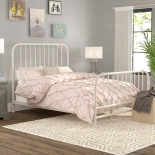 White Wrought Iron Bed Frame Wayfair