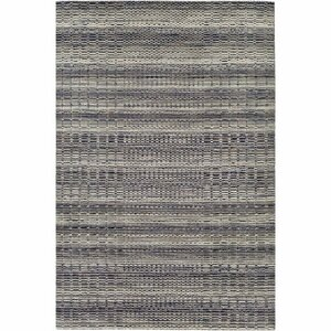 Alysa Hand-Loomed Light Gray/Navy Area Rug