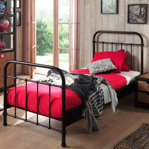 Metallbett Alley Harriet Bee Farbe: Schwarz  Liegefläche: 90 x 200 cm   Schlafzimmer > Betten > Metallbetten   Harriet Bee