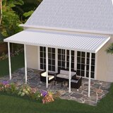 Slope Patio Awning in White
