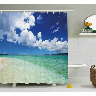 Purchase Ocean Island Sealife Wavy Sunny Shower Curtain By East Urban Home