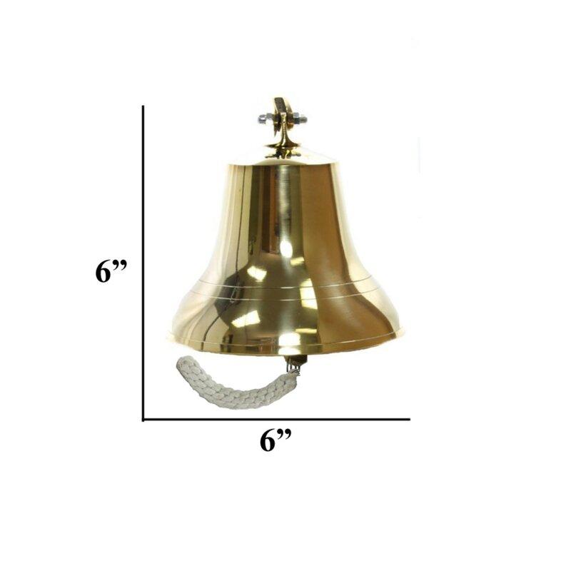 "Small Ship/'s Bell 4/"" Solid Brass Nautical Doorbell Wall Decor New"