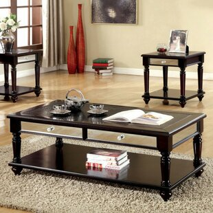 Top Barbery Contemporary 3 Piece Coffee Table Set By Canora Grey