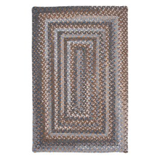 Gloucester Graphite Braided Brown/Tan Area Rug by Colonial Mills