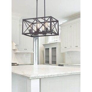 Harlon 6-Light Kitchen Island Linear Pendant