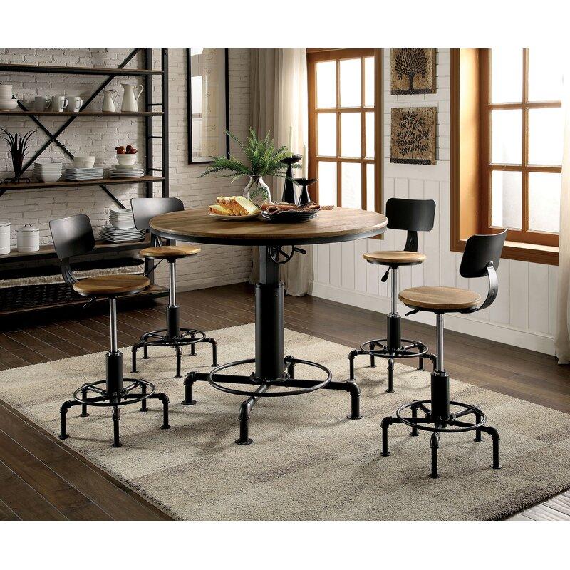 Swell Gowan Adjustable Height Swivel Bar Stool Alphanode Cool Chair Designs And Ideas Alphanodeonline