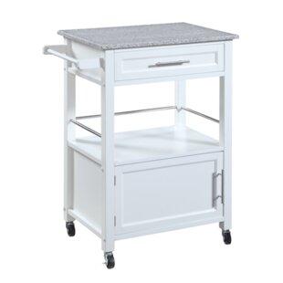 Elsie Kitchen Cart with Granite Top