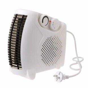 1,500 Watt Electric Fan Compact Heater (Set Of 2) By E-Joy