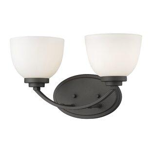 Winston Porter Kepner 2-Light Glass Shade Vanity Light