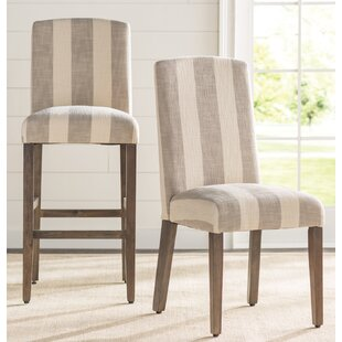 Gracie Oaks Gage Back Parsons Upholstered Parsons Chair (Set of 2)