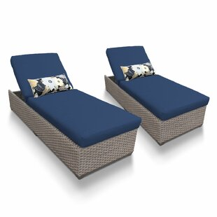 TK Classics Chaise Lounge with Cushion (Set of 2)