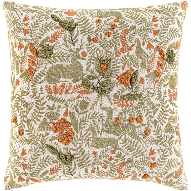 Bungalow Rose Astromeritis Cotton Floral Throw Pillow Cover Reviews Wayfair