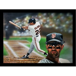 'Will Clark San Fransisco Giants' Print Poster by Darryl Vlasak Framed Memorabilia by Buy Art For Less