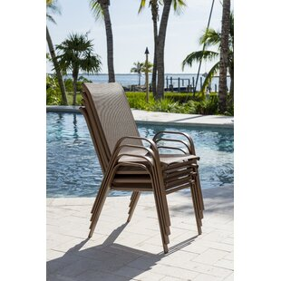 Café Stacking Patio Dining Chair (Set of 4) by Panama Jack Outdoor
