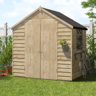 Low Price 7 Ft. W X 5 Ft. D Overlap Apex Wooden Shed