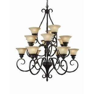 Fleur De Lis Living Willingham 15-Light Shaded Chandelier