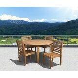 Tryon Outdoor 5 Piece Dining Set