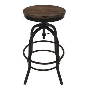 Williston Forge Dismuke Adjustable Height Bar Stool