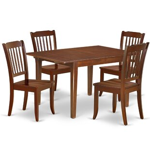 Ladwig 5 Piece Extendable Solid Wood Dining Set