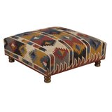 Grube 39 Square Geometric Standard Ottoman by Foundry Select
