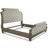 Tufted Low Profile Sleigh Bed by Trisha Yearwood Home Collection