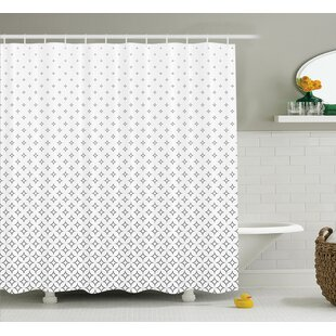 Keesee Abstract Diamond Stars Theme Pattern Infinity Geometric Minimalistic Print Single Shower Curtain