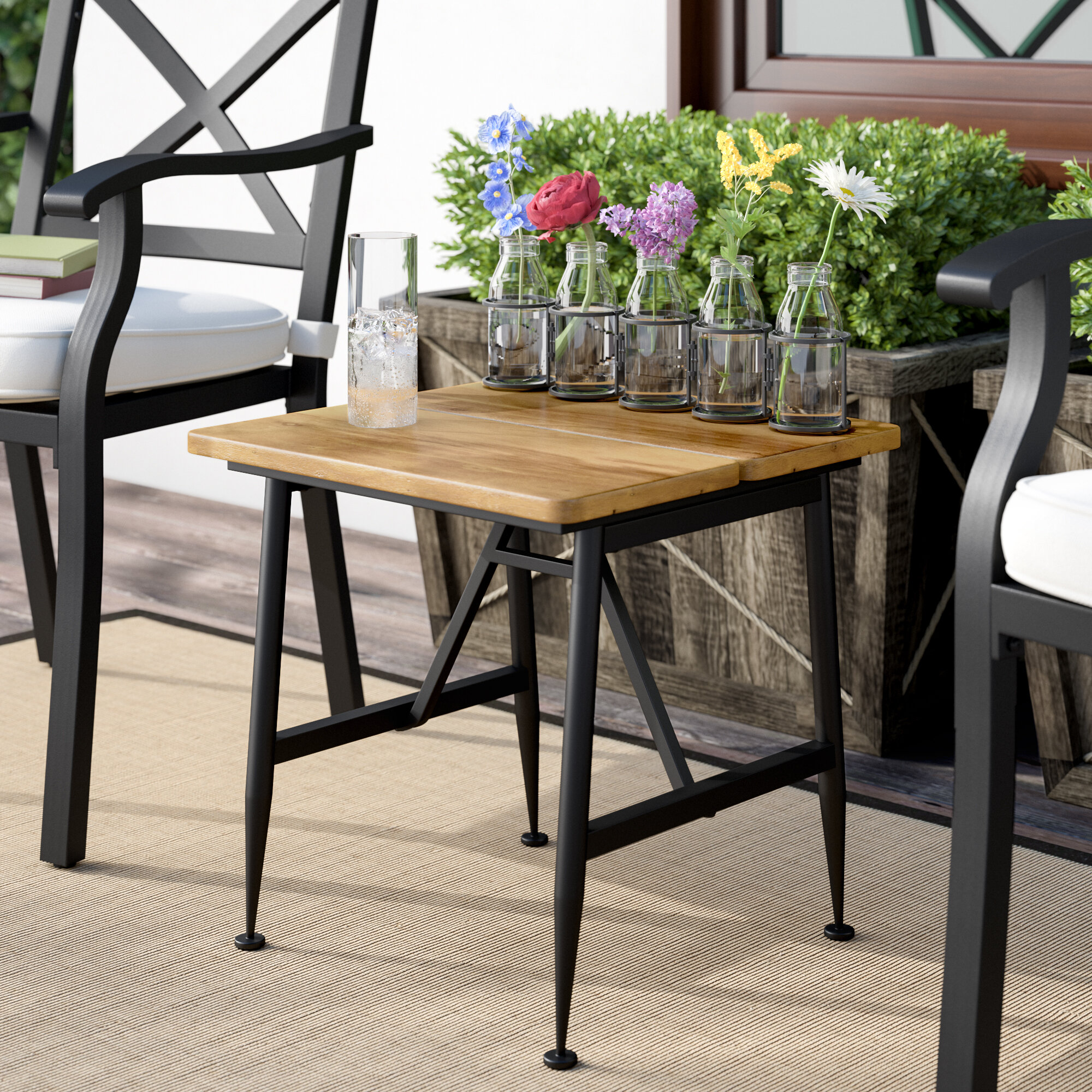 Frankston Solid Wood Side Table