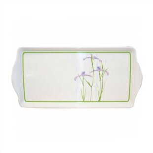 Impressions Shadow Iris Melamine Rectangular Serving Platter